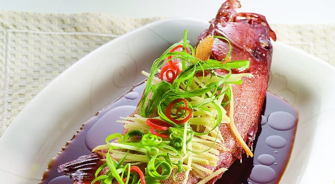 Steamed Fish in Double Deluxe Soy Sauce