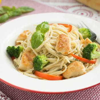 Recipe Chicken with Basil Spaghetti
