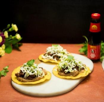 Recipe Beef Tostadas with Cilantro Lime Slaw S
