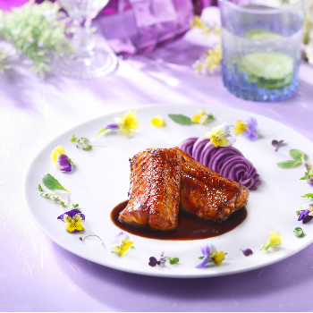 Recipe Brown Braised Eel with Mashed Purple Sweet Potatoes