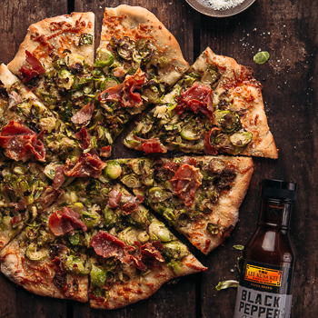 Recipe Brussels Sprouts and Prosciutto Pizza S