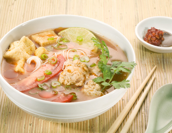 Recipe Bun Rieu Meat Ball Soup with Noodle