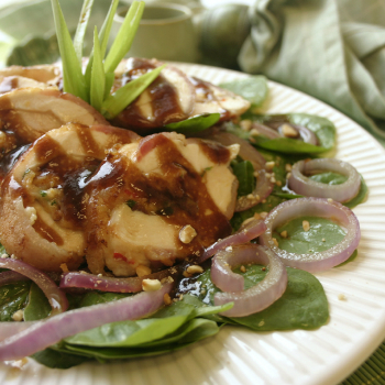 Recipe Chicken Bacon Wrap with Spinach Salad