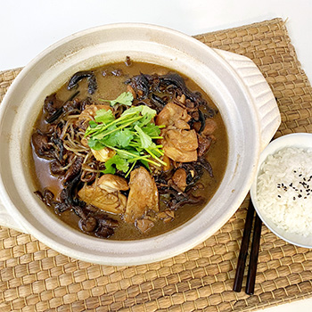 Recipe Chicken Braised with Mushroom S
