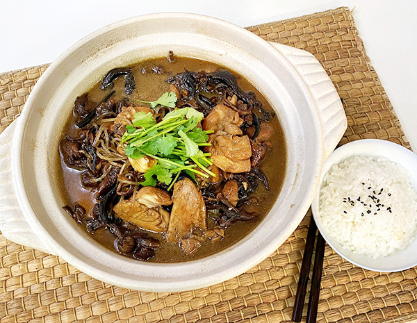 Recipe Chicken Braised with Mushroom