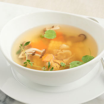 Recipe Chicken Soup with Sweet Corn and Mushroom S