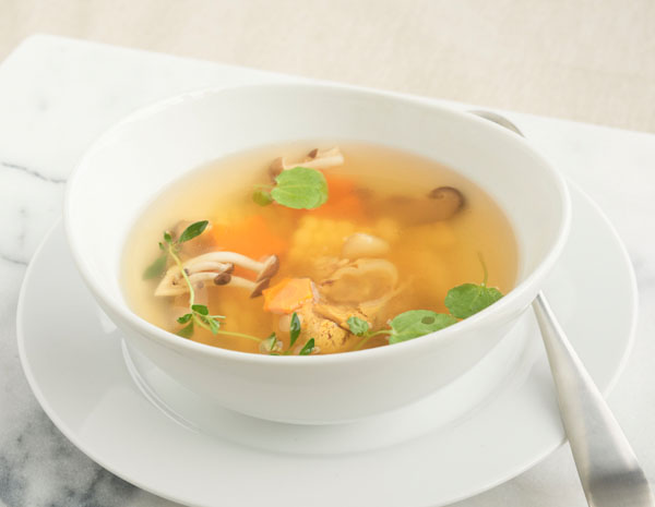 Recipe Chicken Soup with Sweet Corn and Mushroom
