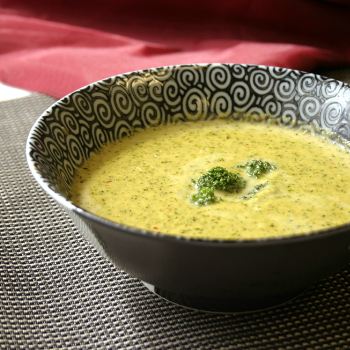 Recipe Chili Garlic Infused Broccoli Cheese Soup