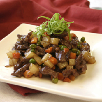 Recipe Diced Beef and Potato with Oyster Flavored Sauce