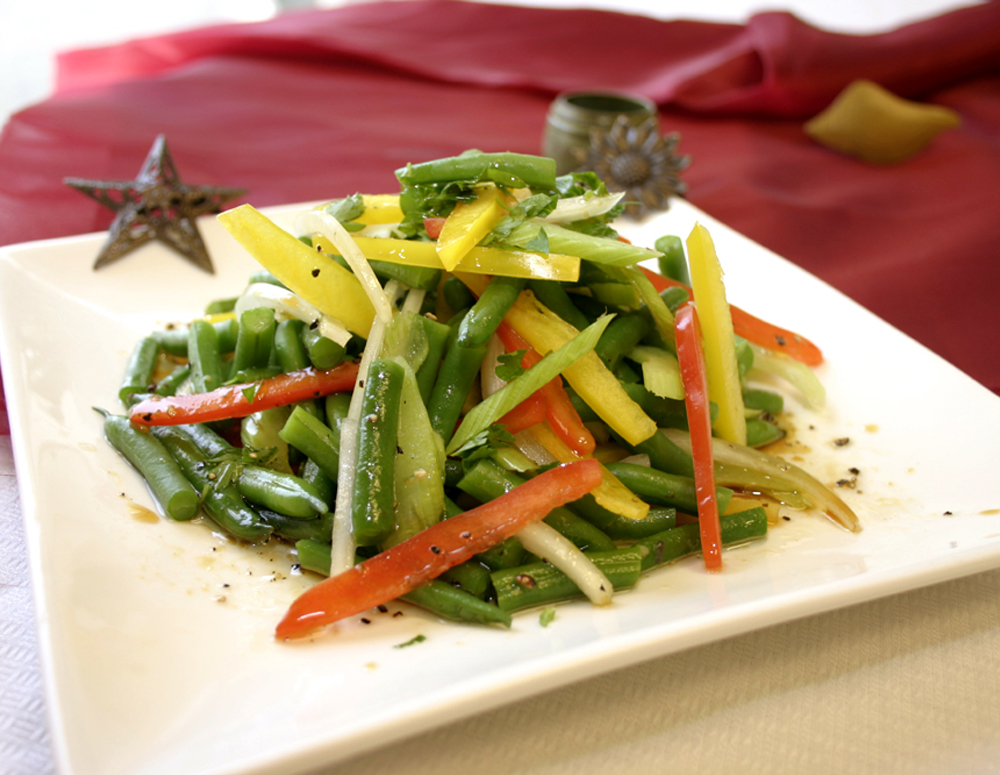 Recipe French Baby Green Bean Salad with Premium Soy Vinaigrette