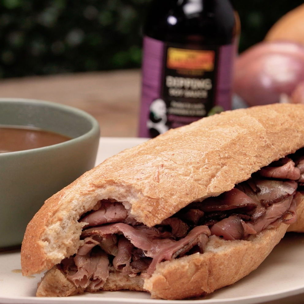 Recipe French Dip Sandwich with Dipping Soy Sauce S