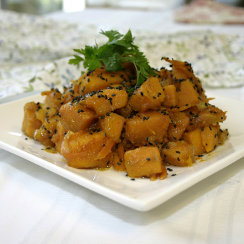Recipe Fried Pumpkin with Sesame  and Lee Kum Kee Premium Soy Sauce