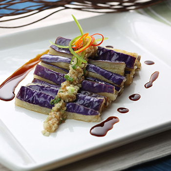 Recipe Garlic Flavored Steamed Eggplant