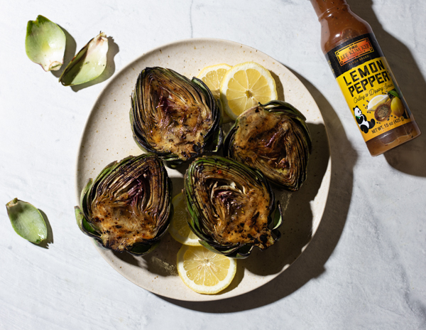 Grilled Artichokes with Lemon  Garlic