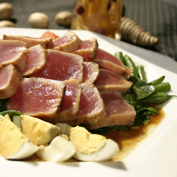 Recipe Grilled Ginger Tuna with Premium Soy Sauce