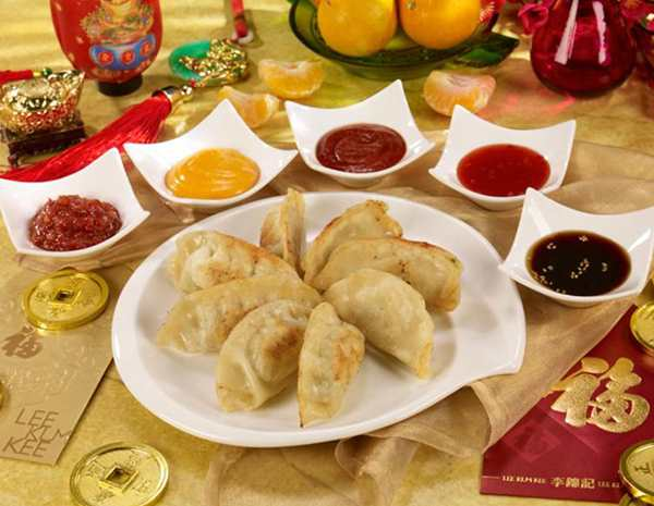 Recipe Lucky New Year Dumplings with 5 Sauces