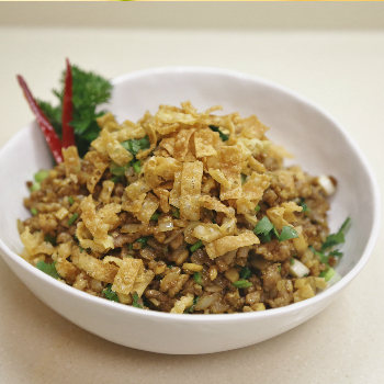 Recipe Minced Chicken with Garlic Hoisin Mustard Sauce