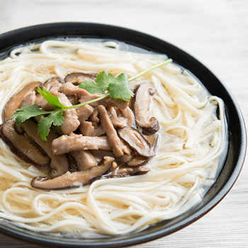 Mushroom and Pork Noodle Soup