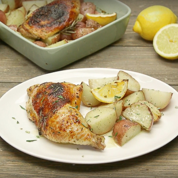 One Pan Lemon Pepper Chicken and Potatoes S