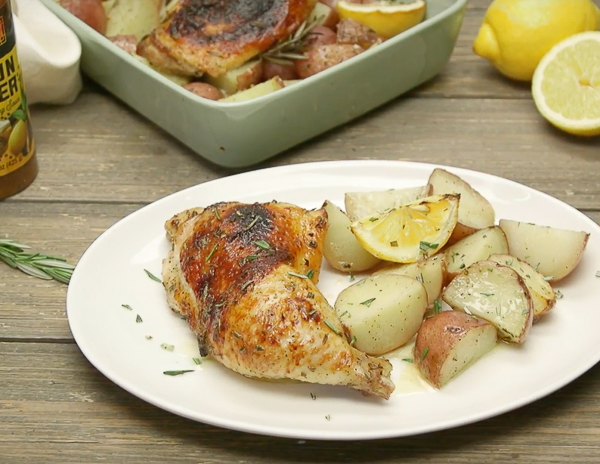 One Pan Lemon Pepper Chicken and Potatoes