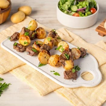 Recipe Oyster Sauce Steak and Potato Kebabs S