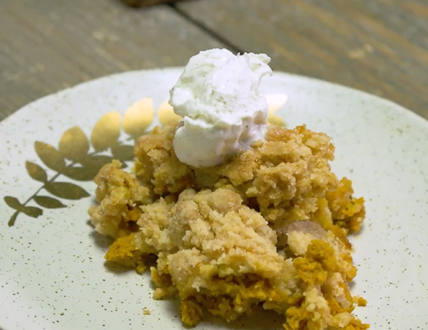 Recipe Pumpkin Pie Crisp