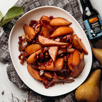 Recipe Sauteed Pears with Bacon & Candied Walnuts S