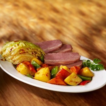 Recipe Sauteed Vegetables and Corned Beef with Premium Oyster Flavored Sauce