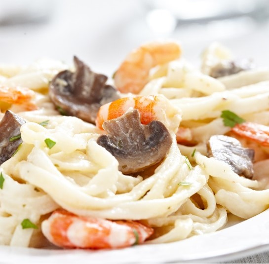 Recipe Seafood Fettuccini in Mushroom Cream Sauce S