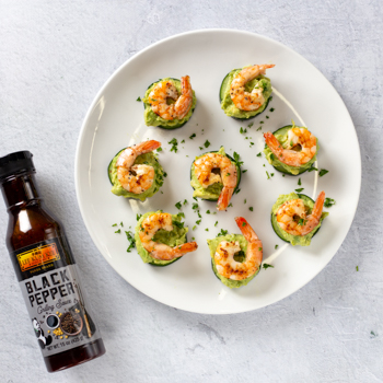 Recipe Shrimp  Avocado Cucumber Bites S