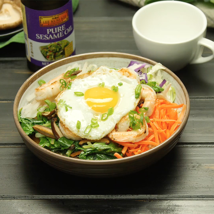 Recipe Shrimp and Egg Breakfast Grain Bowl S