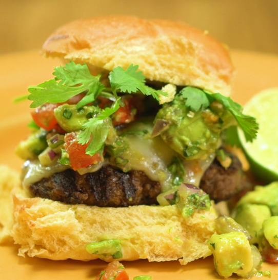 Recipe Southwest Burger with Avocado Salsa S