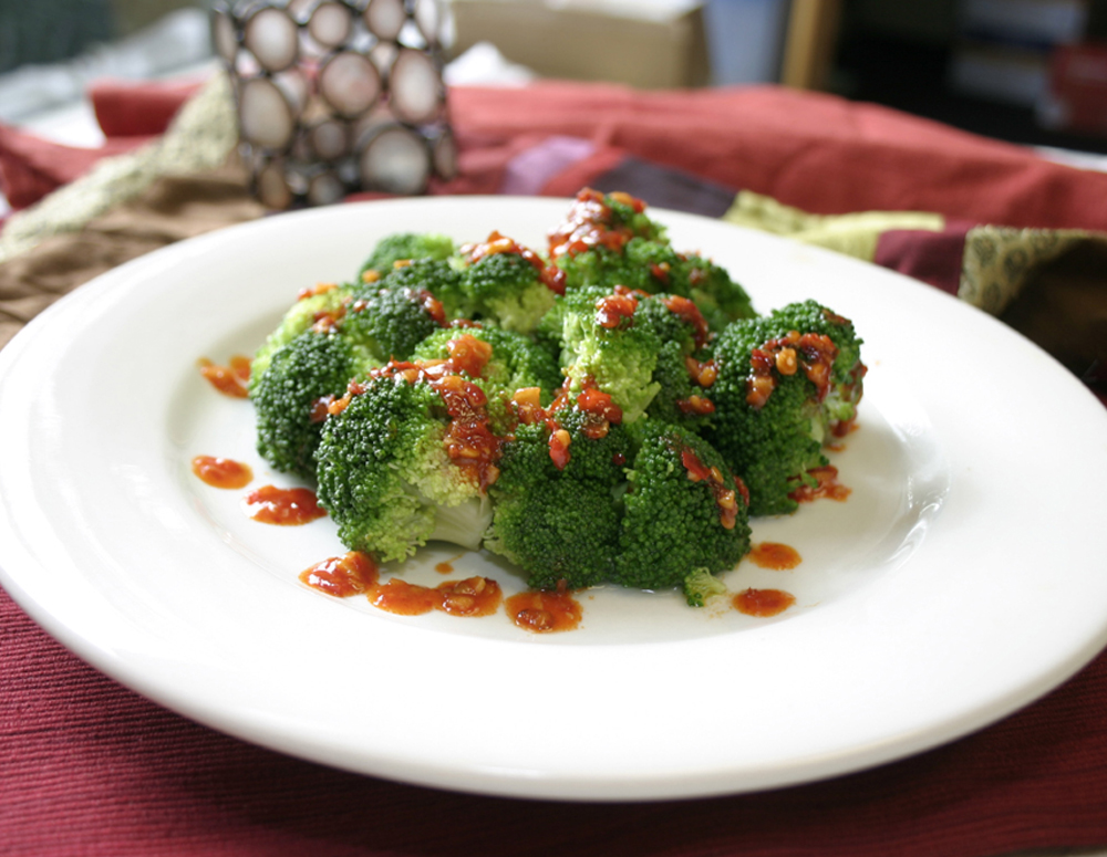 Recipe Soy Broccoli Salad with Panda Brand Chili Garlic Sauce