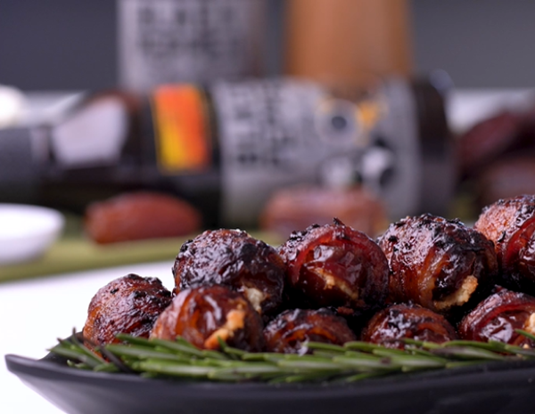 Recipe Spiced Goat Cheese Stuffed Bacon Wrapped Dates