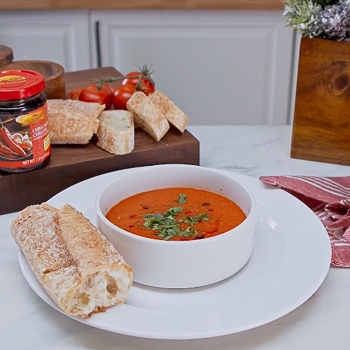 Recipe Spicy Roasted Red Pepper & Tomato Soup S
