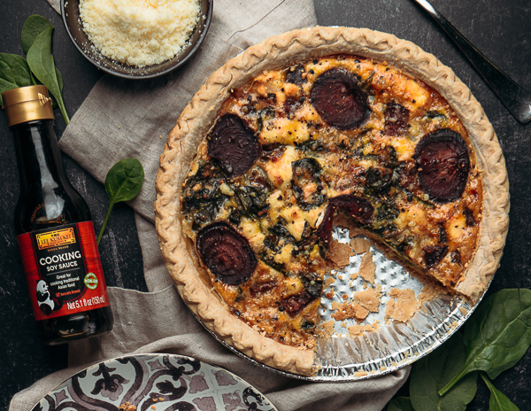 Recipe Spinach & Beet Quiche