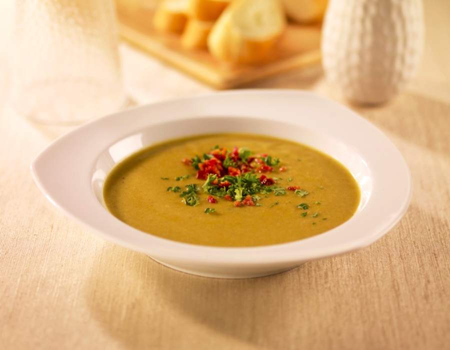 Recipe Split Pea & Bacon Soup with Premium Oyster Flavored Sauce