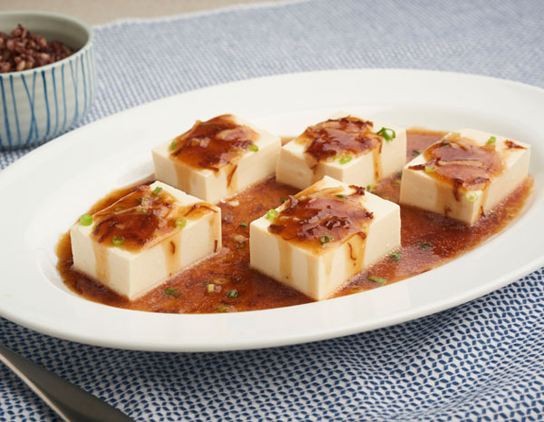 Recipe Steamed Soft Tofu Pair with OS with Dried Scallop
