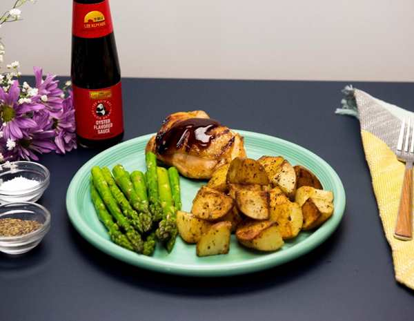 Recipe Sweet Lime and Oyster Sauce Backed Chicken Thighs