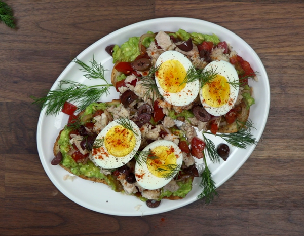 Recipe Tuna Nicoise Toast