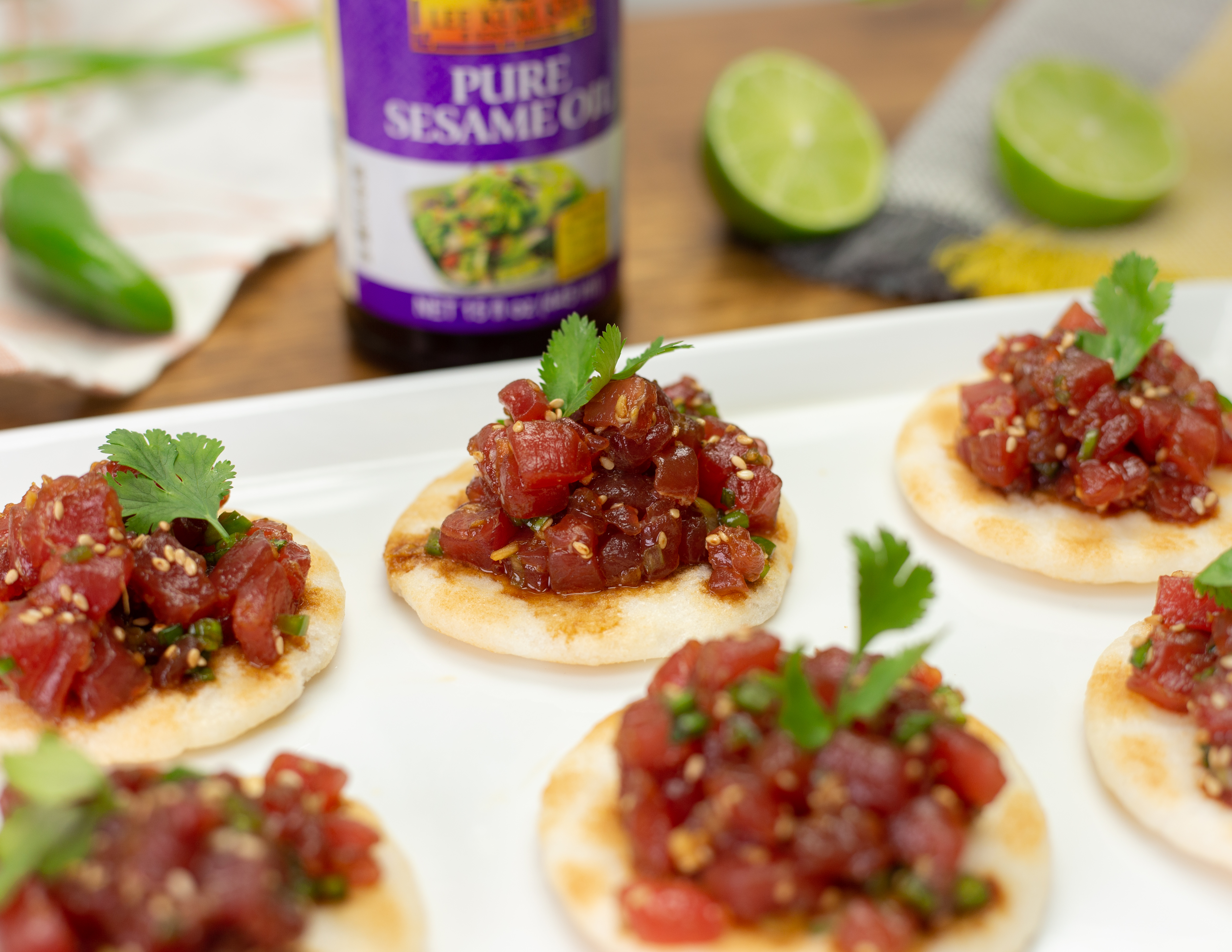 Recipe Tuna Tartare with Sesame, Chili and Ginger