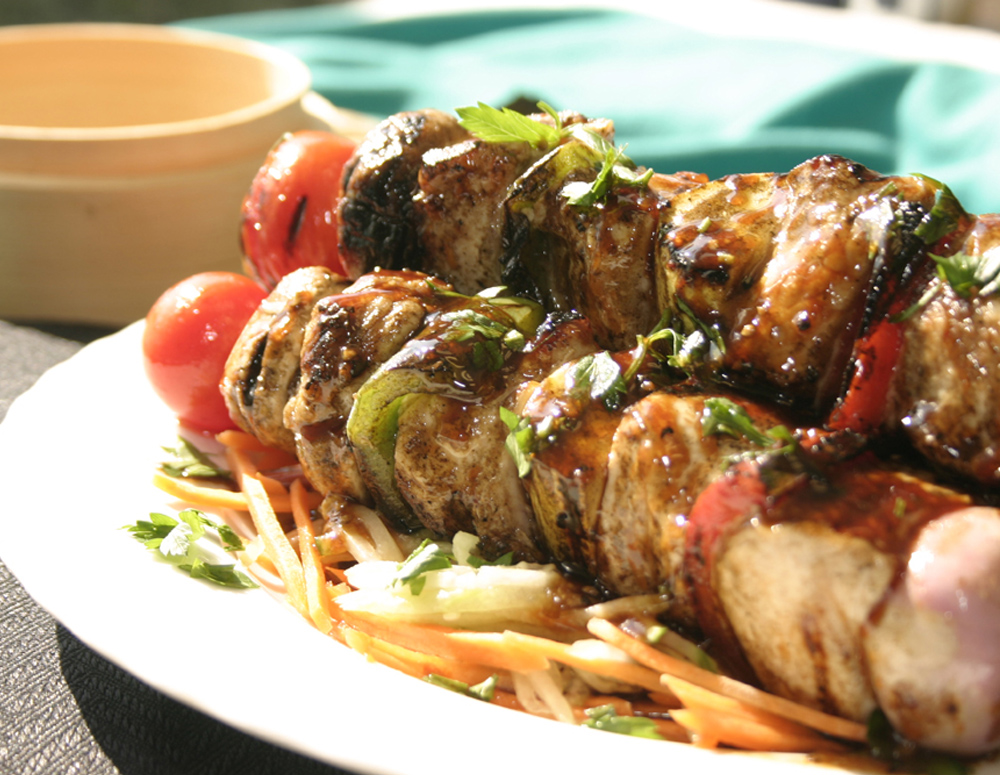 Recipe Turkey with Vegetable Kabobs