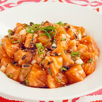 Recipe Salmon Poke woth Oyster Flavored Sauce S