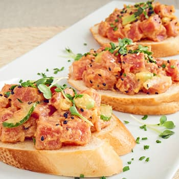 Recipe Spicy Mayo Poke Bruschetta S