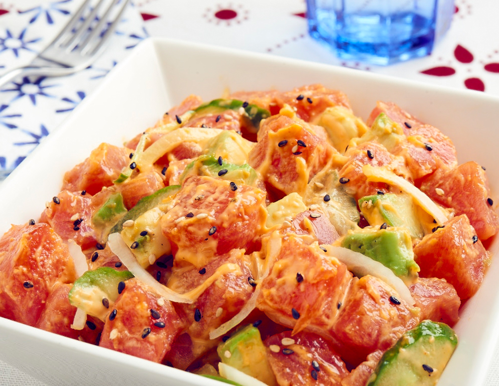 Recipe Tuna Poke with Sriracha Mayo